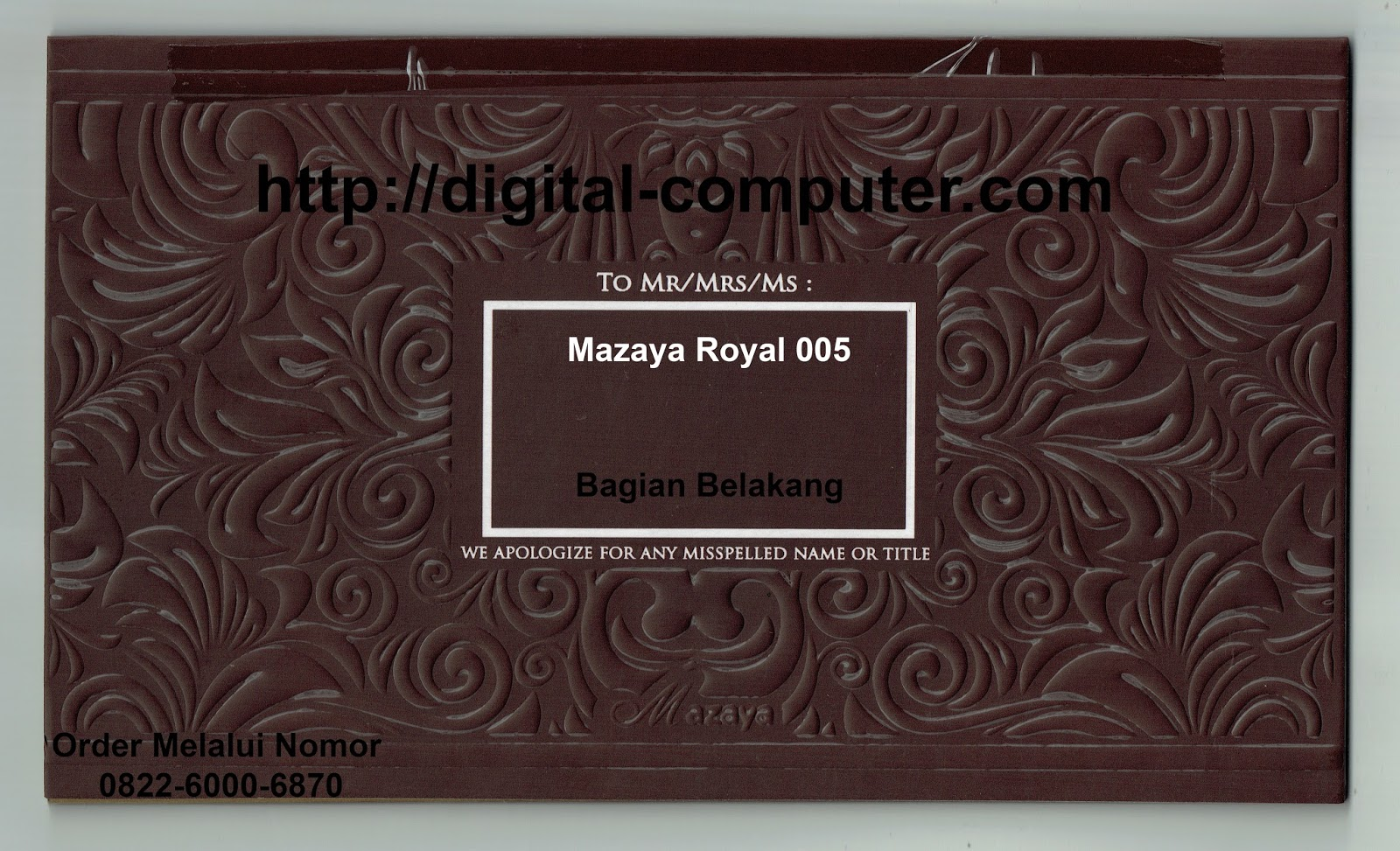 undangan hardcover Mz-Royal 005