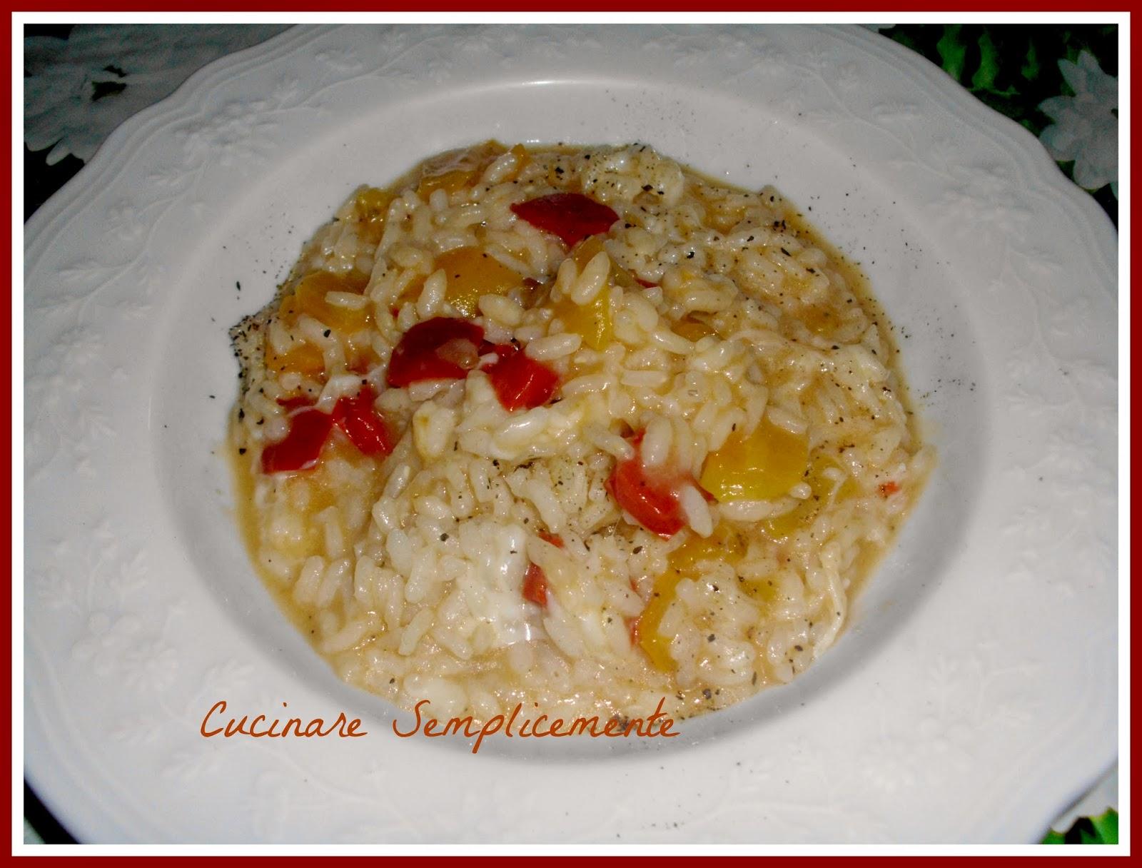 Cucinare semplicemente risotto ai peperoni for Cucinare risotto