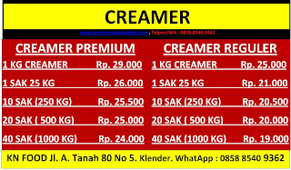 distributor-non daily-creamer