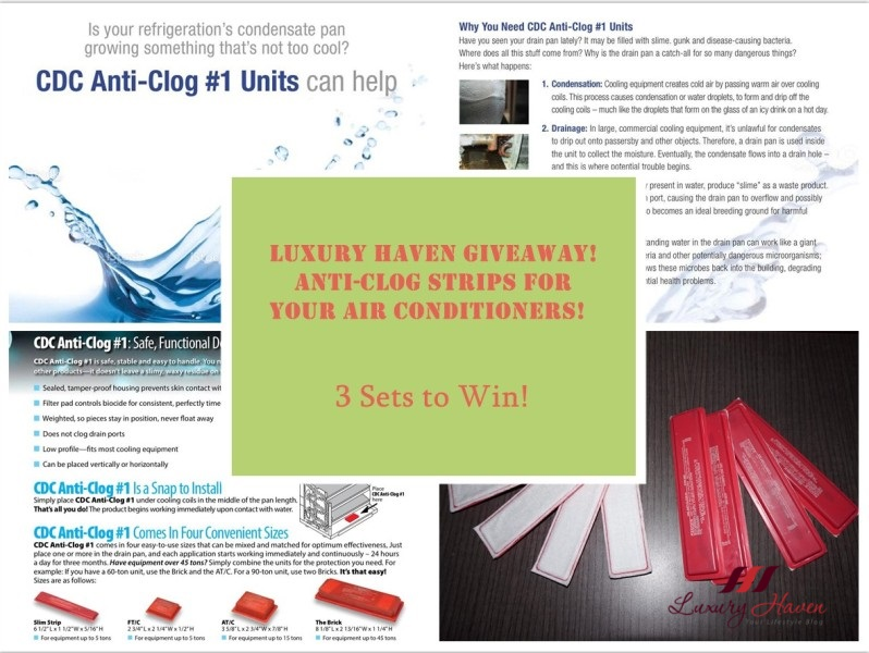 air connection giveaway win cdc anti clog strips