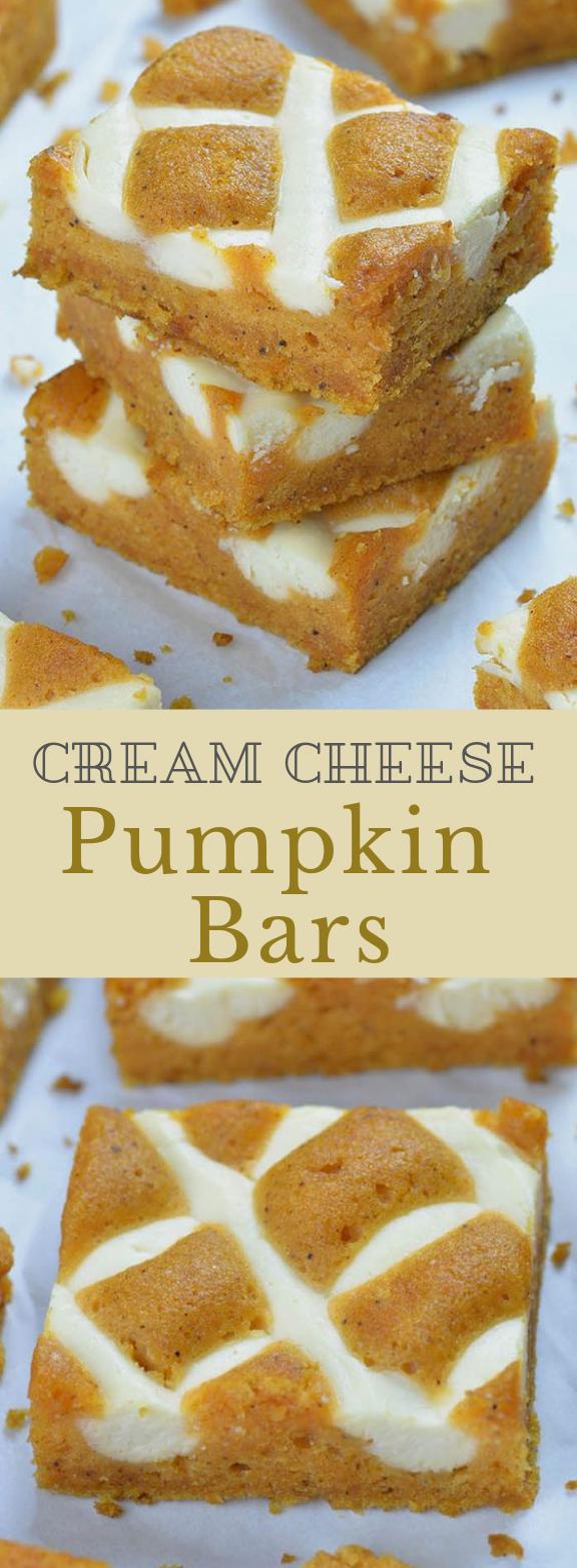 Pumpkin Bars with Cream Cheese #cake #pumpkin