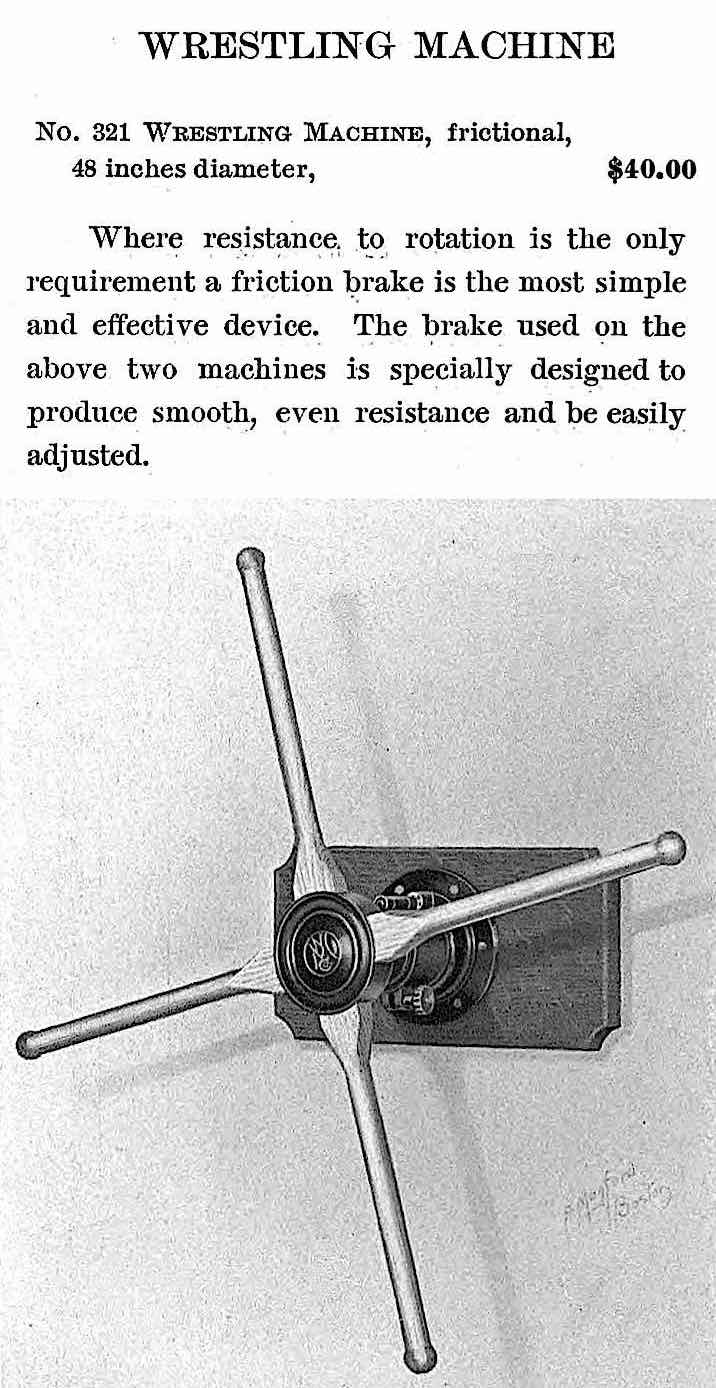 a 1905 wall mounted exercise machine