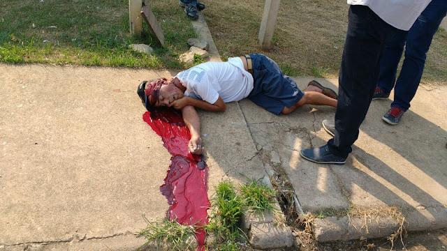 Homem é executado com seis disparos enquanto na calçada da Rua Oscarina Marques