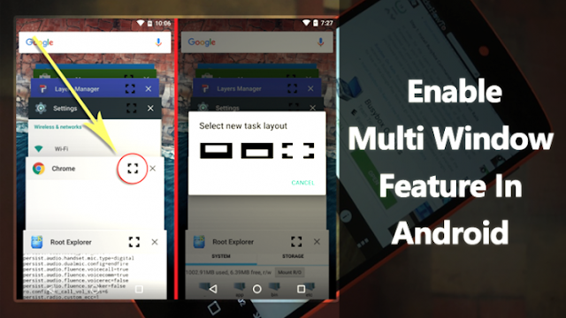 Multi Window Mode in Android 6.0 Marshmallow