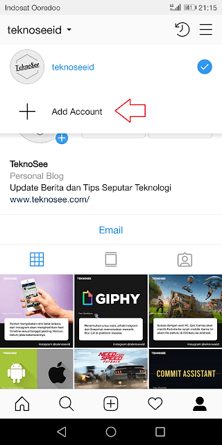 pilih opsi add account