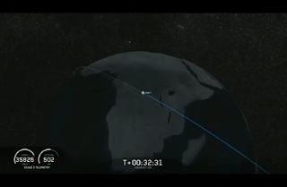 SpaceX Falcon Heavy orbit graphic