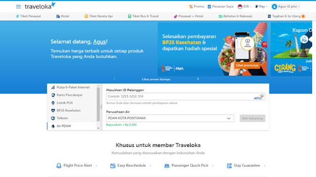 Cara Mudah Bayar Tagihan PDAM Via Traveloka