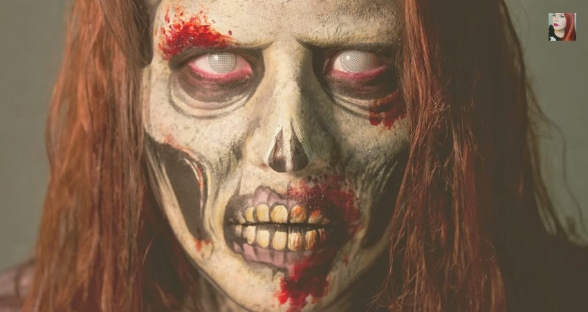 come truccarsi ad halloween, halloween trucco zombie, goldiestarling, halloween make up tutorial video