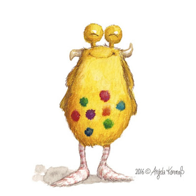 Loni der Pumpf, monster, Kinderbuchillustration, Kinderbuch, Glück, Liebe, startnext,