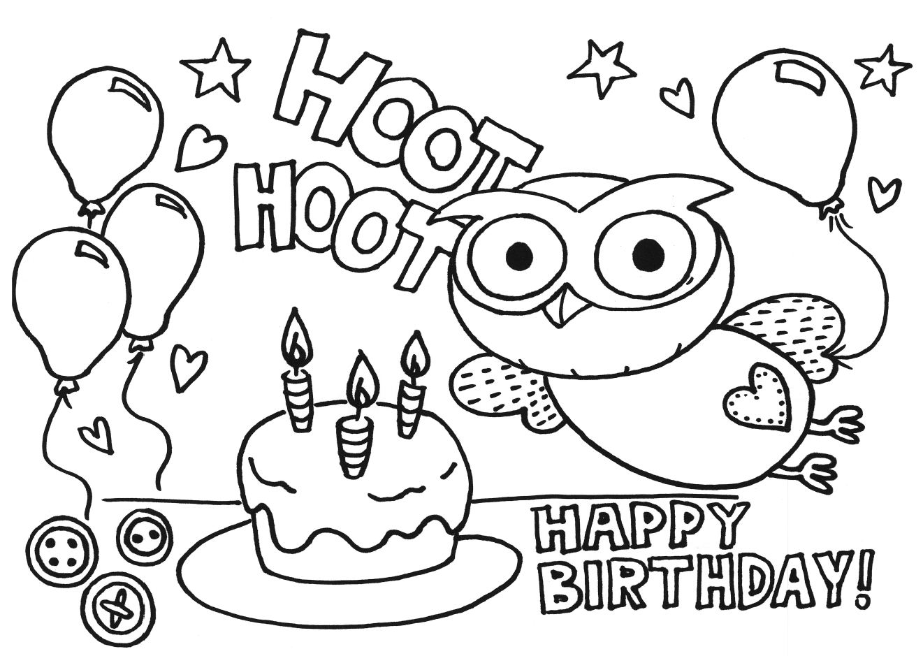 - Coloring Page Birthday Cake Az Coloring Pages. Happy Me. Likewise