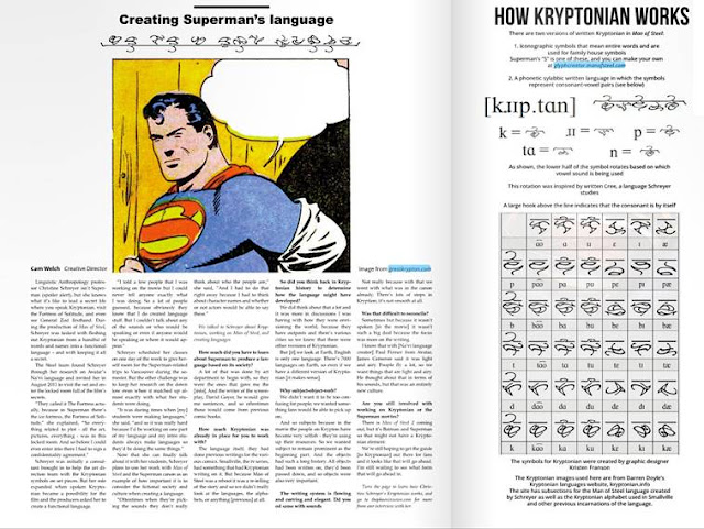 Mengintip Bahasa Planet Krypton