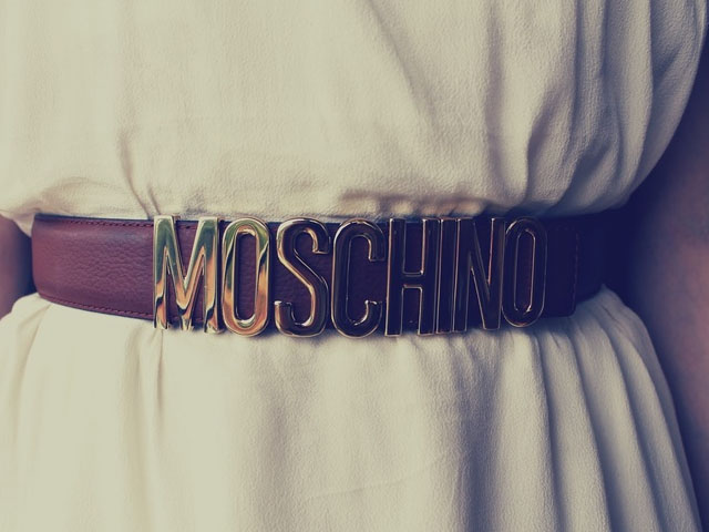 brown moschino belt