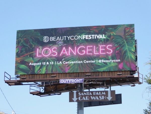 BeautyCon Festival Los Angeles billboard