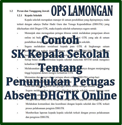 Ops Lamongan Contoh Surat Keputusan Kepala Sekolah Tentang