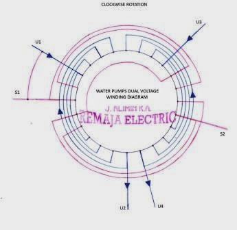 dual voltage electric pumps winding diagram electrical winding wiring diagrams