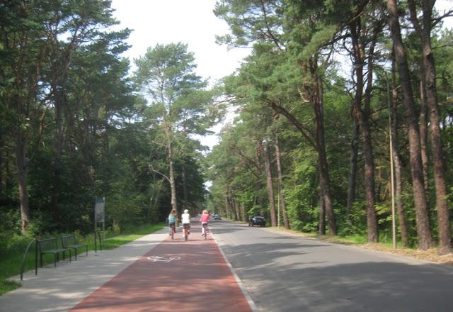 Fahrradweg auf Usedom