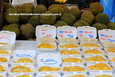 Durian flesh that were removed from its shells