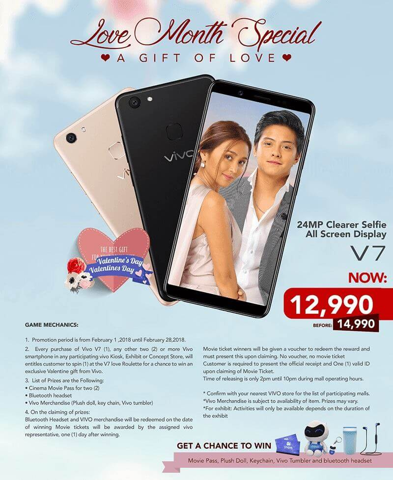 Vivo Love Month Special: Win Prizes for Every Purchase of Vivo V7