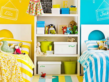 10 shared children's bedrooms with lots of color 10