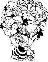 דפי צביעה זר פרחים