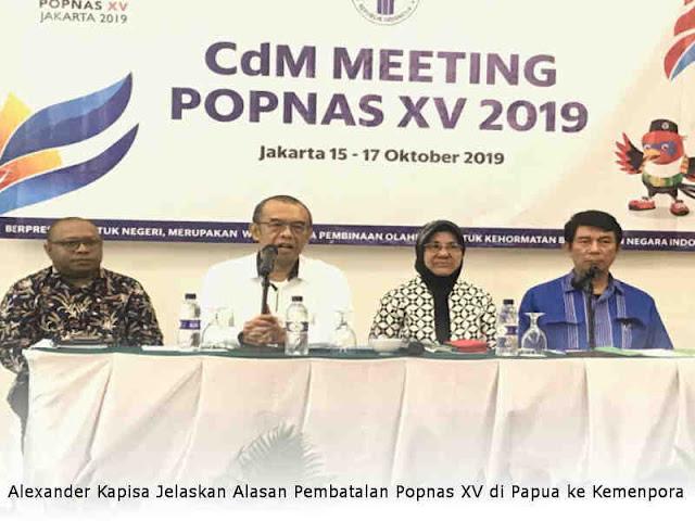Alexander Kapisa Jelaskan Alasan Pembatalan Popnas XV di Papua ke Kemenpora