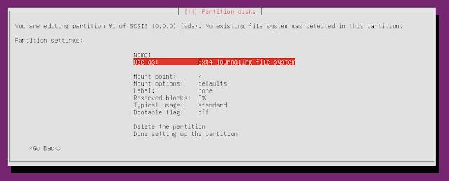 ubuntu minimal cd partition info
