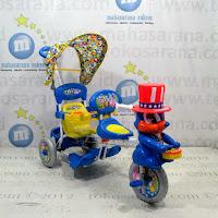 royal 2 kursi sepeda roda tiga