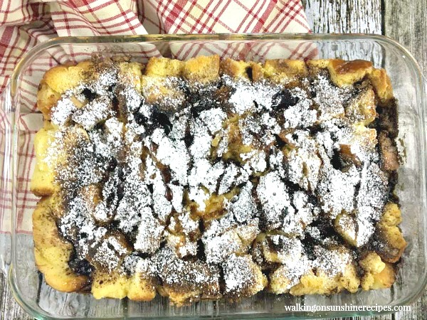 French Toast Breakfast Casserole BAKED from Walking on Sunshine Recipes