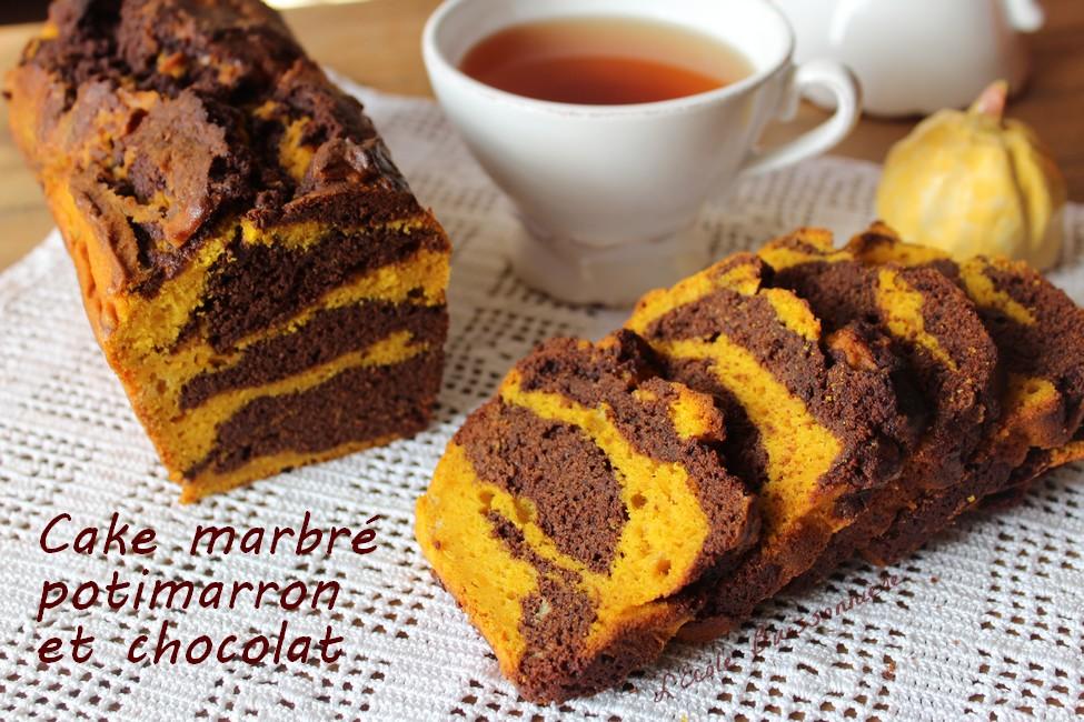 L Ecole Buissonniere Cake Marbre Au Yaourt Potimarron Et Chocolat