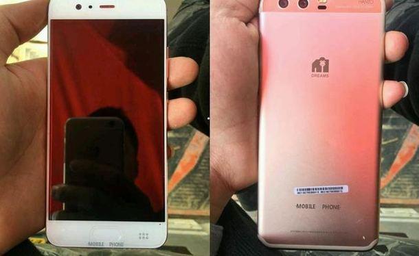 Lộ hình ảnh thực tế của điện thoại Huawei P10, cảm biến vân tay phía trước