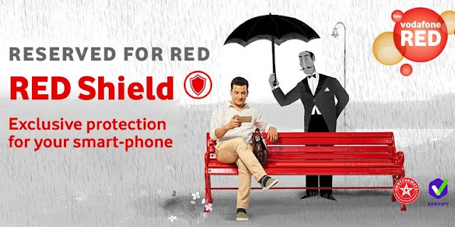 Get free device protection  Vodafone red shield