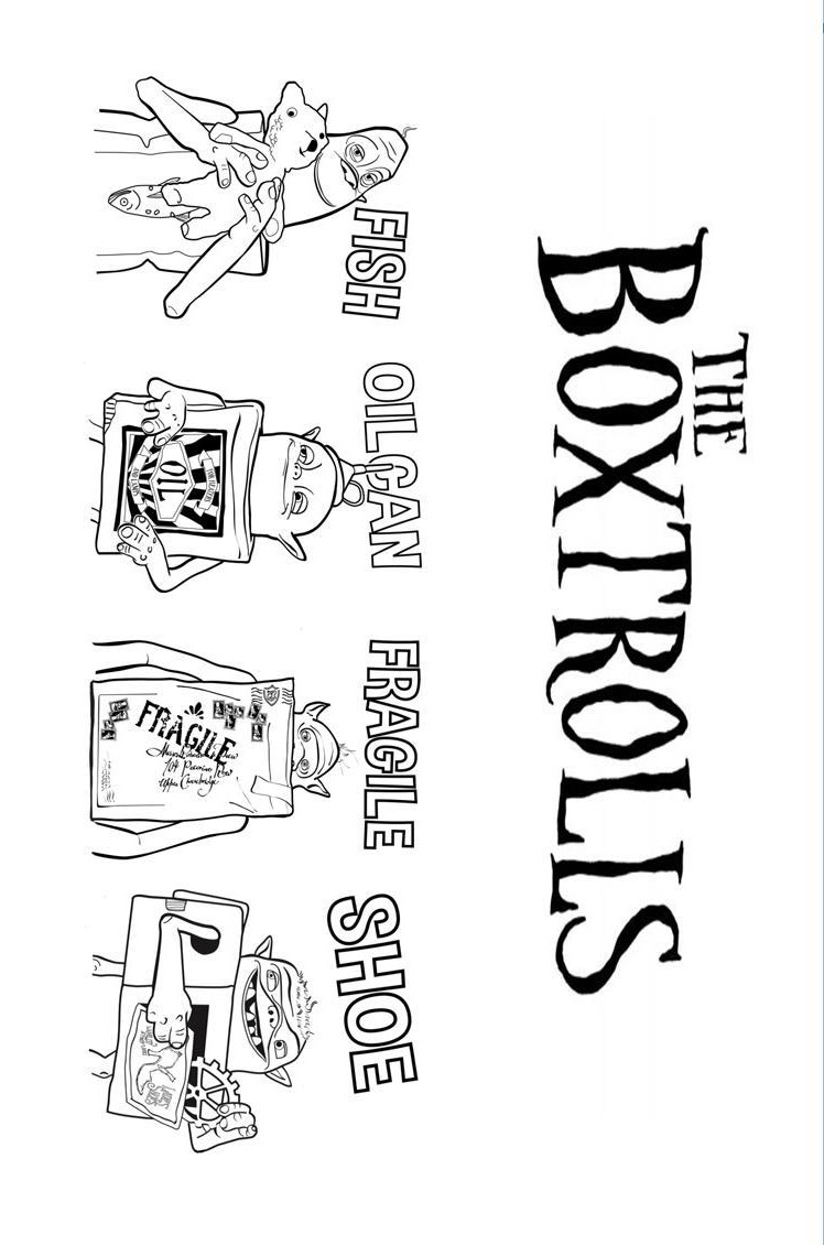 boxtrolls coloring pages - photo#34