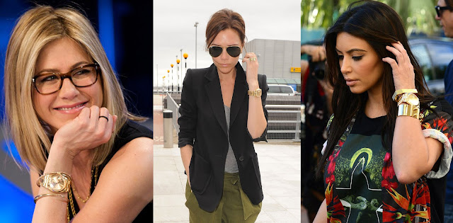 Photos of Jennifer Aniston, Victoria Beckham and Kim Kardashian Wearing Gold Rolex Day-Dates