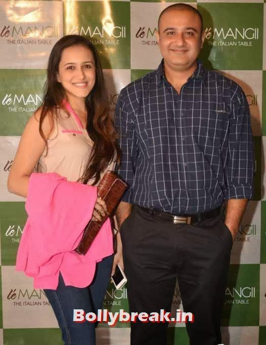Vivek Mushran with wife, Page 3 Celebs at 'Le Mangii' Launch Party