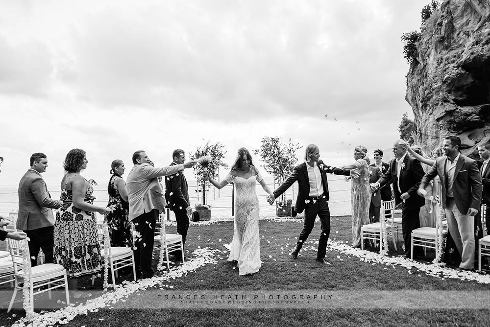 Wedding ceremony at San Pietro hotel