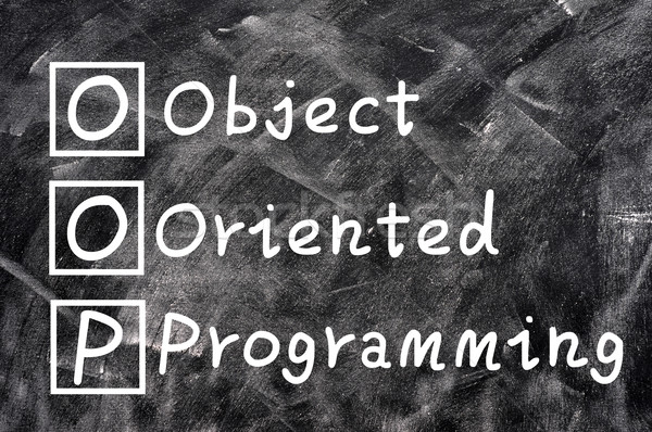 1756167 stock photo chalk writing of oop for object oriented programming