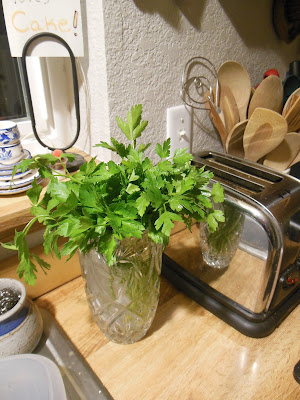 Make your own fresh herb vase, keep herbs fresher, until used and not wasted.