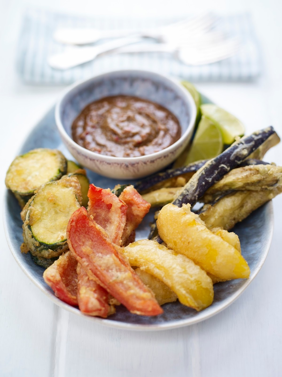 Vegetable Tempura with Sunflower Seed Dipping Sauce...