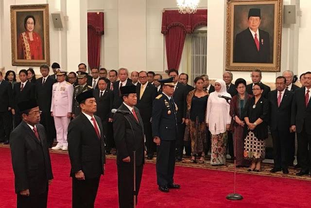Idrus Marham, Moeldoko, Agum Gumelar, dan KSAU Baru Dilantik Presiden Jokowi