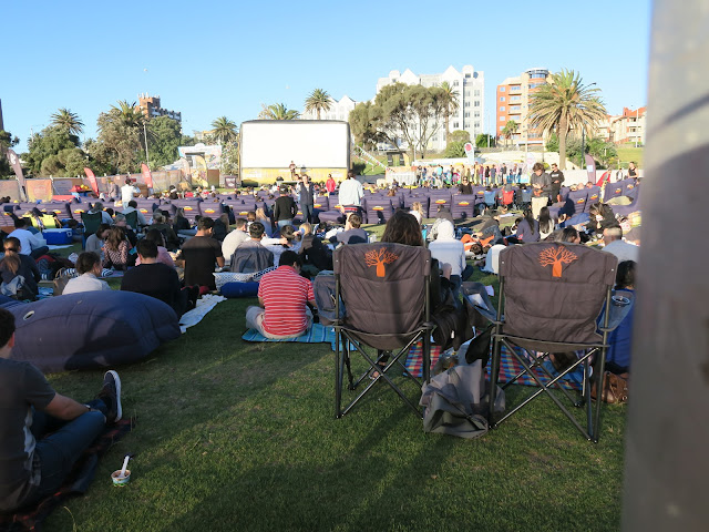 open air cinema,  St Kilda's beach, Melbourne