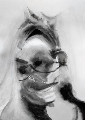 retrato tinta china Benjamin Vilella Alma