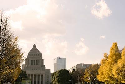 National Diet Building, Tokyo, in autumn.