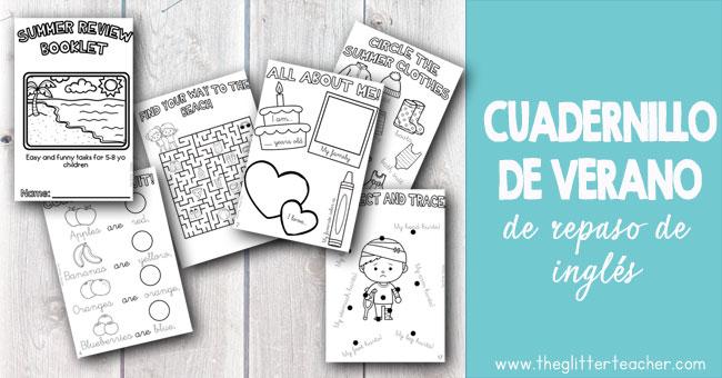 librito imprimible con actividades divertidas para completar, trazar, escribir, dibujar y colorear relacionadas con los centros de interés más cercanos a los/as niños/as de 5 a 8 años.