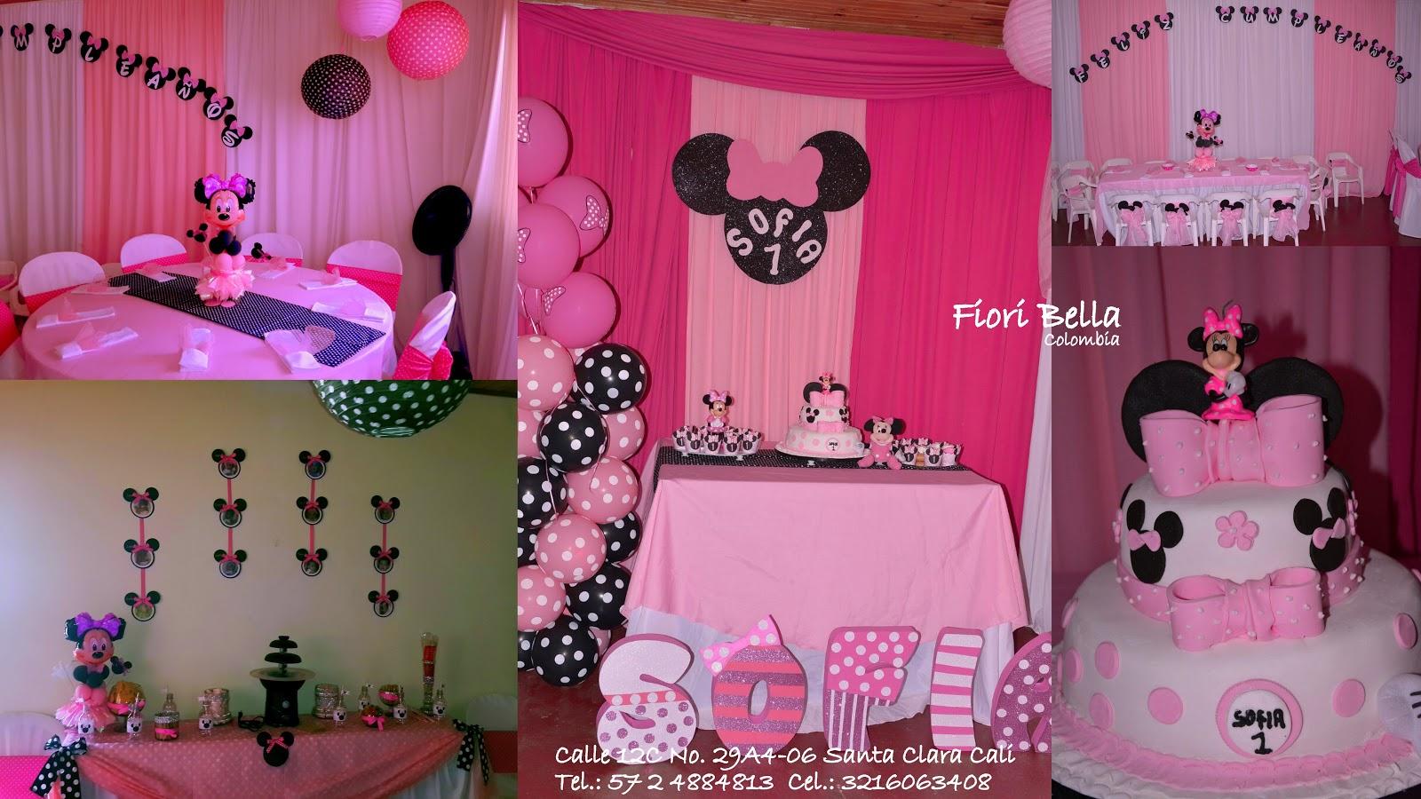 Fiesta Infantil Nina Tematica Minie Mouse Fiori Bella Colombia