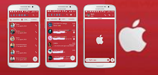 Red Apple iOS Theme For GBWhatsApp Download By Leideh