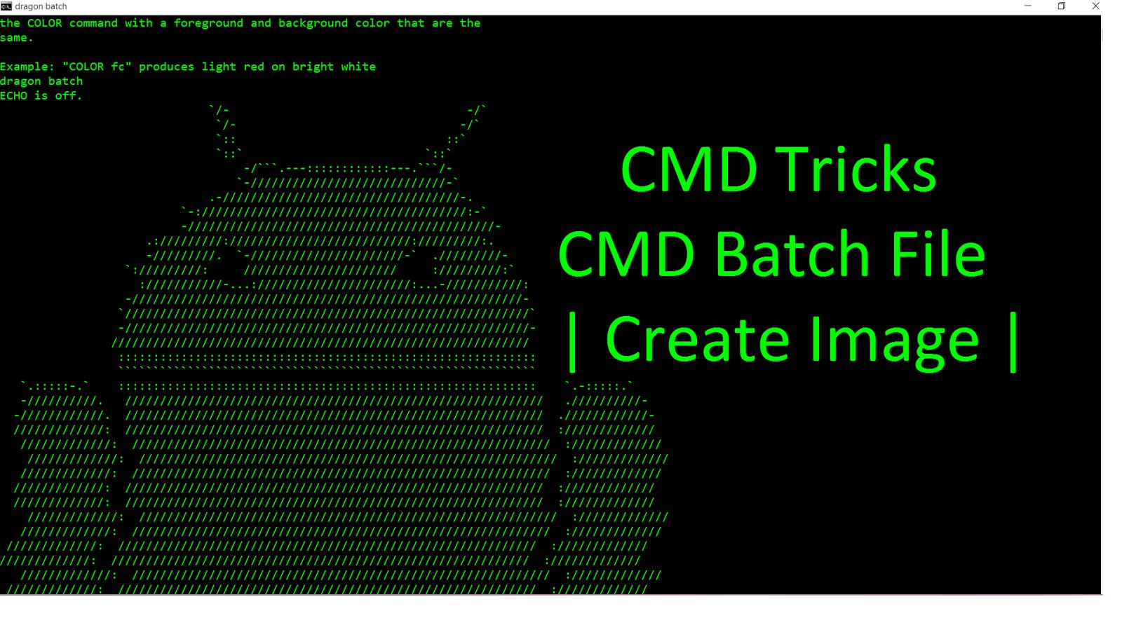 CMD tricks | Insert Image in CMD | CMD Batch File ~ Test