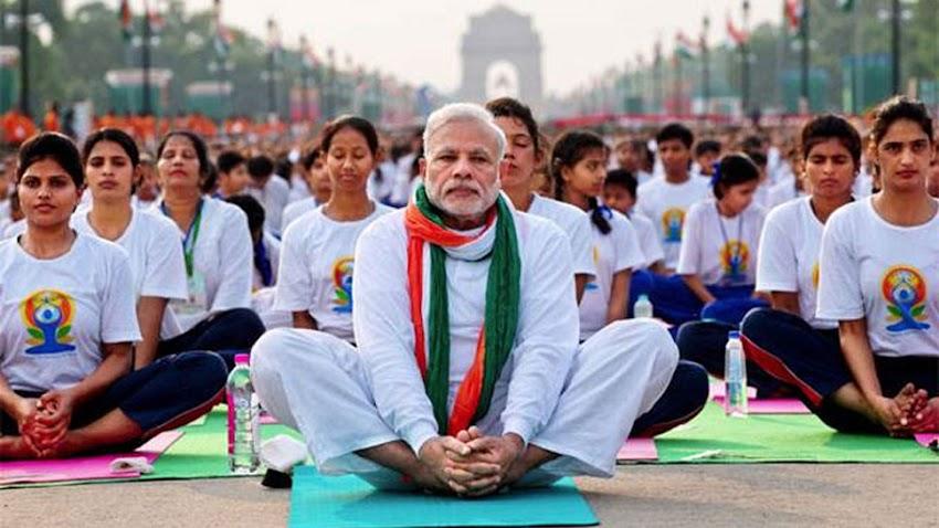 Primer Ministro de India participa de un encuentro de Yoga en Buenos Aires con más de 8 mil asistentes.