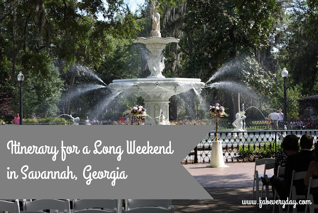 Itinerary for a Long Weekend in Savannah, Georgia