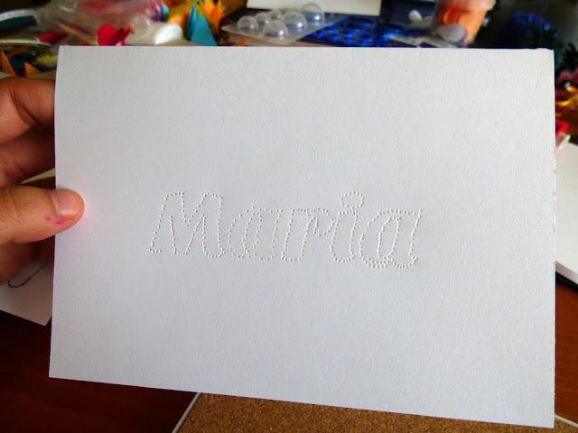 String Art - Maria - Nume Cusut Manual