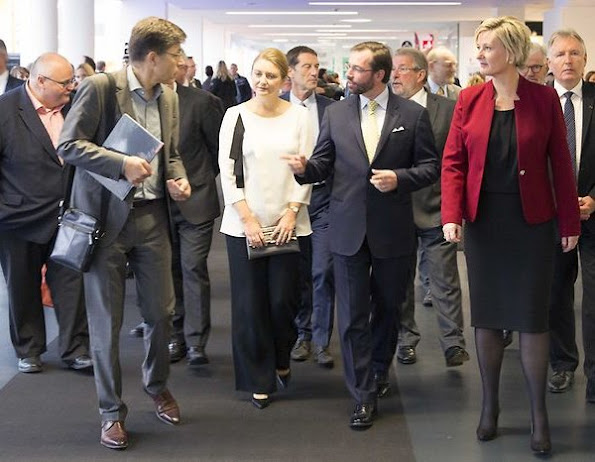"Hereditary Grand Duke Guillaume and Hereditary Grand Duchess Stephanie of Luxembourg visited ""Home and Life"" exhibition"
